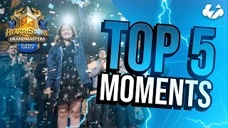 TOP 5 MOMENTS FROM GLOBAL FINALS 2019 | Tempo Storm Hearthstone [Saviors of Uldum]