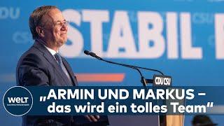ARMIN LASCHET - Wahlkampf-Abschluss-Rede des Unions Kanzlerkandidaten auf dem Münchner Nockherberg