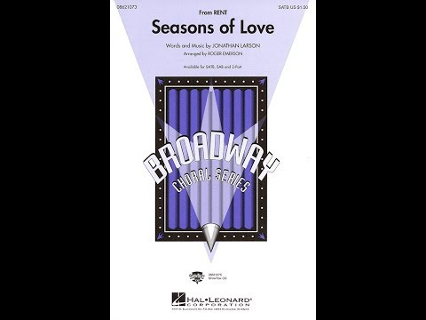 Seasons of Love (SATB) - Arranged by Roger Emerson