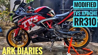 Modified TVS Apache RR 310 | Sports  Stickering | Gold Rim Painting | ARK Diaries