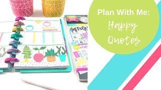 Mini Plan With Me | Happy Quotes