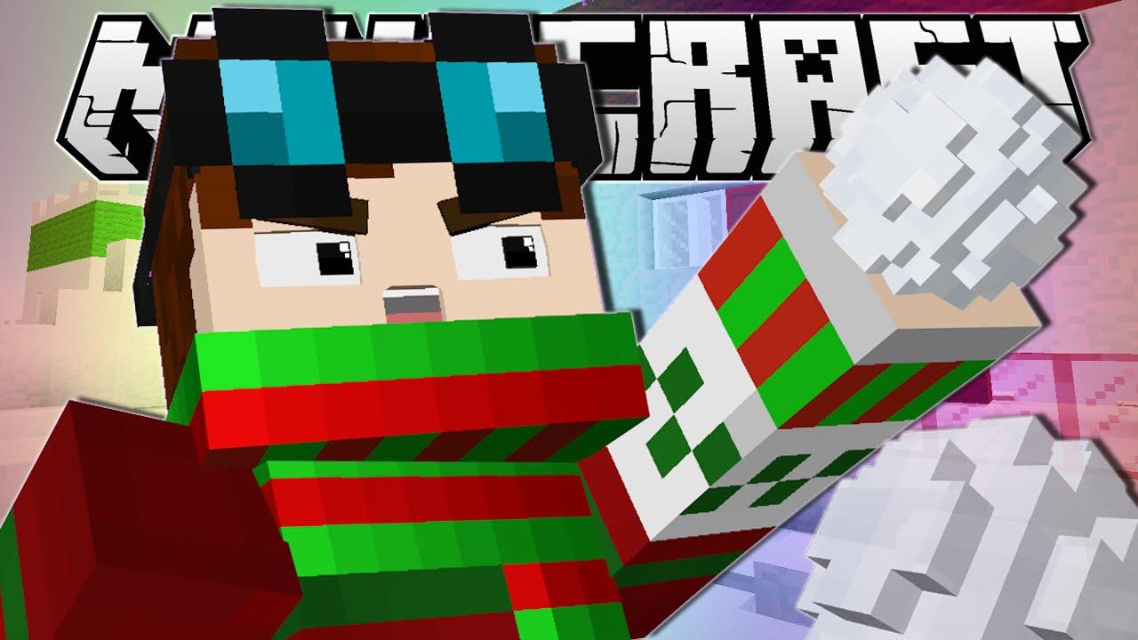 Minecraft   SNOWBALL FIIIIIIIGHT!!   Snow Fight Minigame ...
