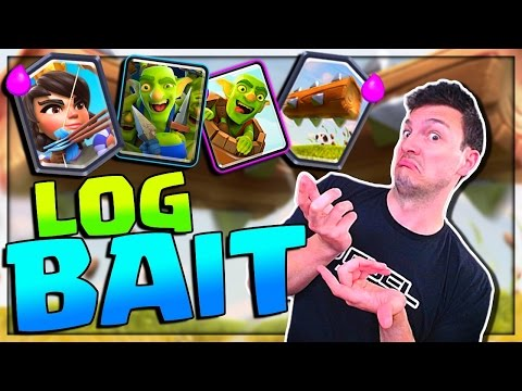 BEST LEGENDARY ARENA DECK? - LOG BAIT - Clash Royale Pushing