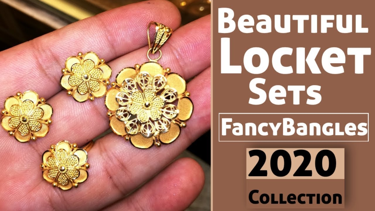 Latest 22k Gold Beautiful Locket Sets Desings With Weight !! Awesome New Collection By FancyBangles