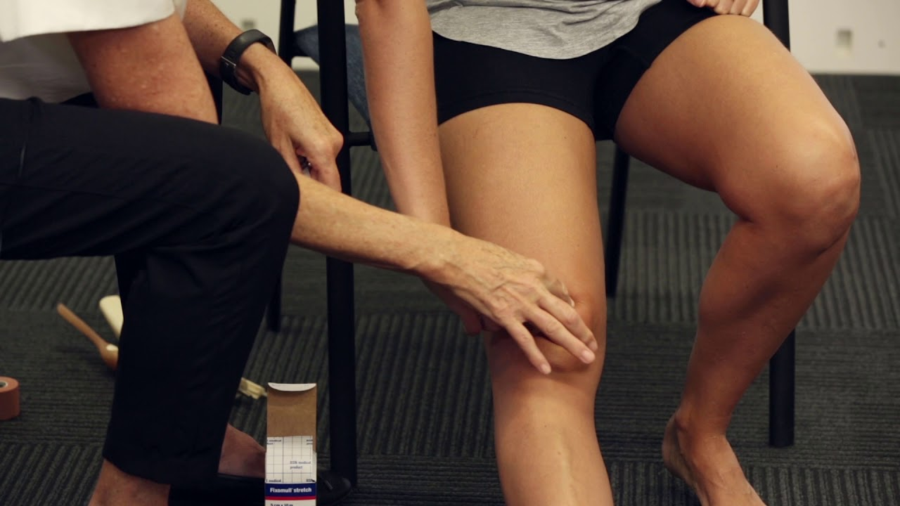 Taping for knee fat pad