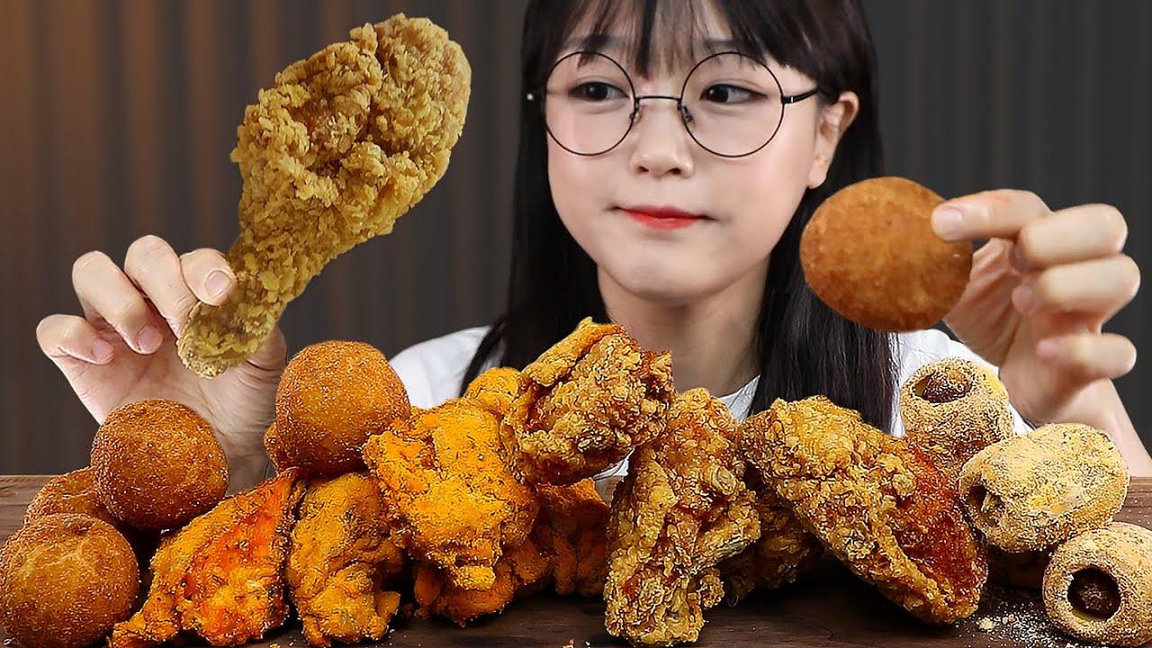 이 집 후라이드 잘 하네🤔 후참 치킨 치즈볼 먹방 FRIED CHICKEN & CHEESE BALLS MUKBANG | ASMR EATING SOUNDS