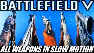 Battlefield V All Weapons In Slow Motion - Closed Alpha
