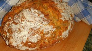 Когда лень идти за хлебом Рецепт быстрого хлеба без дрожжей без замеса хлеб на кефире