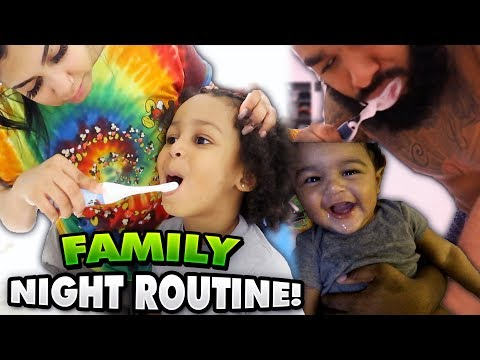 OUR FAMILY NIGHT ROUTINE!!!