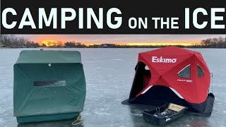Camping on Early ICE: Cat¢hing Crappies and Bluegills!