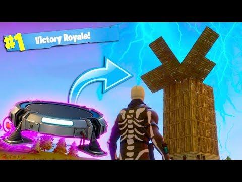 LAUNCHING INTO A SKY BASE! *VICTORY ROYALE* ~ Fortnite Battle Royale thumbnail