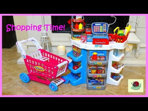Kids Toy SUPERMARKET Play Pretend Grocery Shopping | itsplaytime612 Unboxing