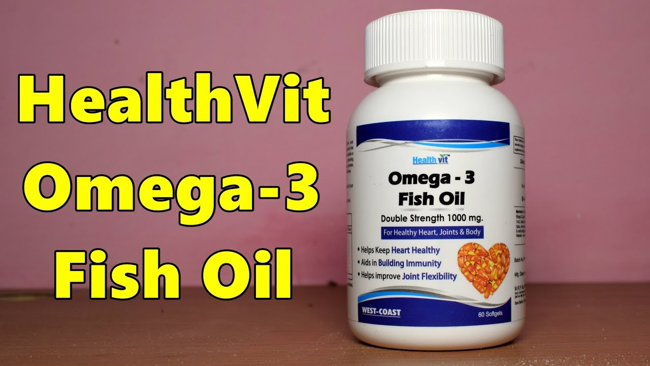 Healthvit OMEGA-3 Fish Oil Review Hindi