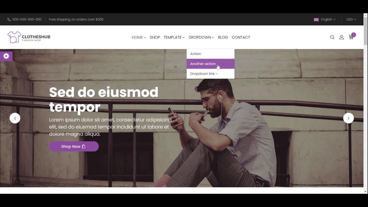 Angular 11 Bootstrap 4 E-Commerce Template | Angular E-commerce Free Templates