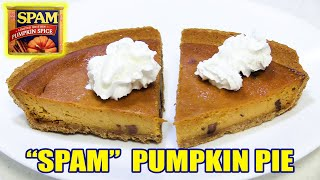 SPAM Pumpkin Pie Cheesecake | WHAT ARE WE EATING?? | The Wolfe Pit