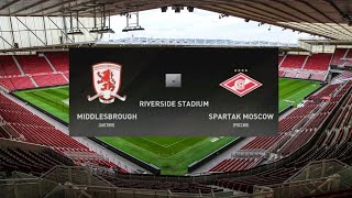 Футбол Фифа Мидлсбро Англия Спартак Москва Россия MIDDLESBROUGH SPARTAK MOSCOW