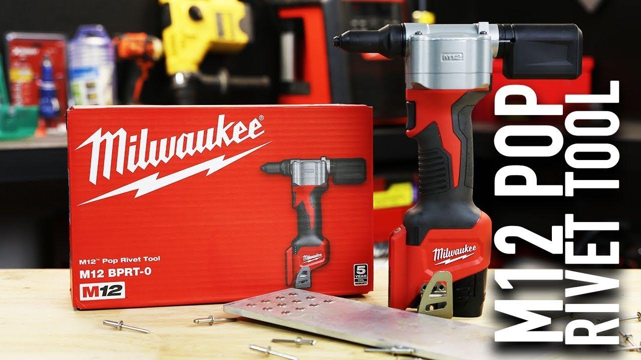 Milwaukee M12BPRT-0 12V Li-ion Cordless Pop Rivet Tool - Skin Only
