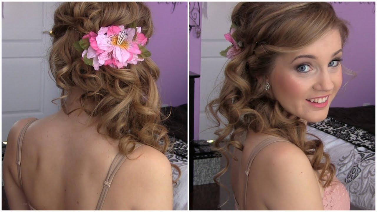 side swept cascading curls - easy