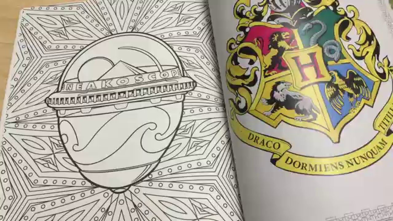 Harry Potter Coloring Book Review and flip through. HP and the ...
