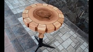Ash tree swivel stool