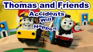 Thomas and Friends REVERSED Accidents Will Happen with Electric Thomas and Salty
