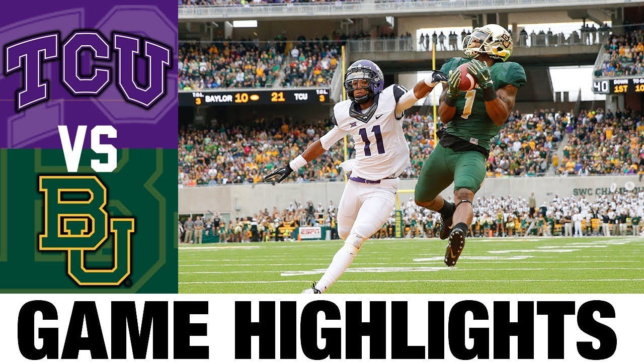 #9 TCU vs # 5 Baylor | 2014 Game Highlights | 2010's Games of the Decade