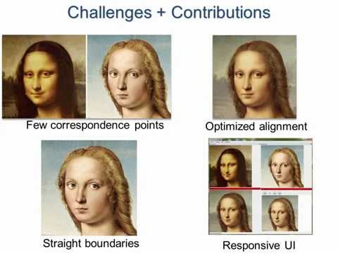 Automating image morphing using structural similarity on a halfway domain (SIGGRAPH 2014)