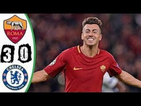 AS Roma vs Chelsea 3-0 Highlights & Goals - 31 October 2017