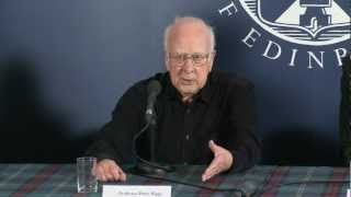 News conference with Professor Peter Higgs