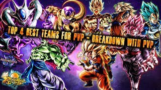 The BEST 4 Teams for PvP! TOP META Breakdown WITH PvP! Top Rank - Dragon Ball Legends
