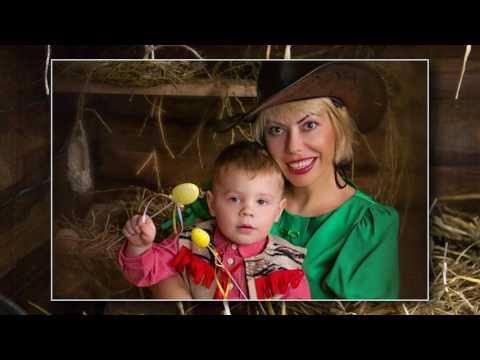 Пасхальная фотосессия мама с сыном