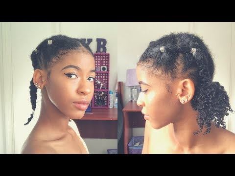 Rubberband Cornrows Stitch Braiding On Natural Hair 2 In 1 Back
