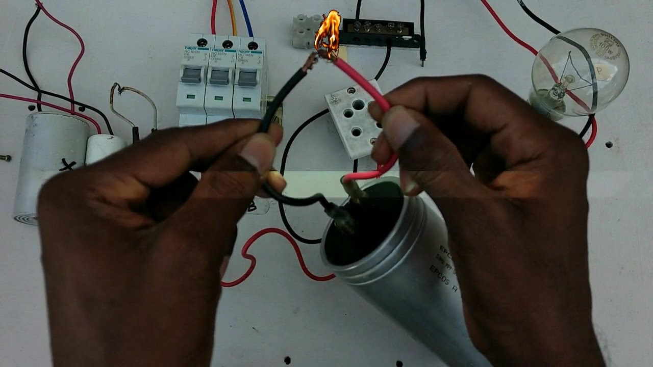 How to check capacitor in simple and easy no meter no test lamp in how to check capacitor in simple and easy no meter no test lamp in tamil english keyboard keysfo Images