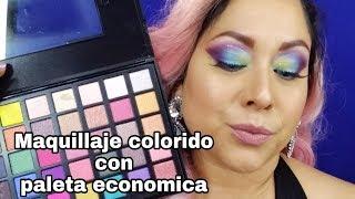 Maquillaje colorido con paleta económica!