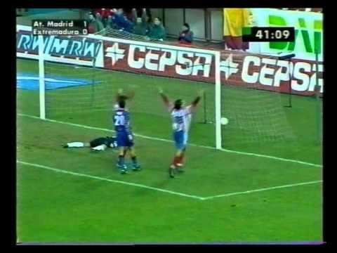 1998/99.- Atlético Madrid 5 Vs. CF Extremadura 0 (Liga - Jornada 17)