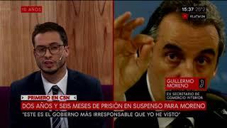 Habló Guillermo Moreno sobre la condena