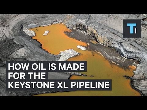 How oil is made for the Keystone XL pipeline