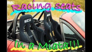 Racing seats + Harnesses install Project MX-5 #9