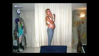 9 months in 1000 pictures stop motion (Pregnancy time lapse!...