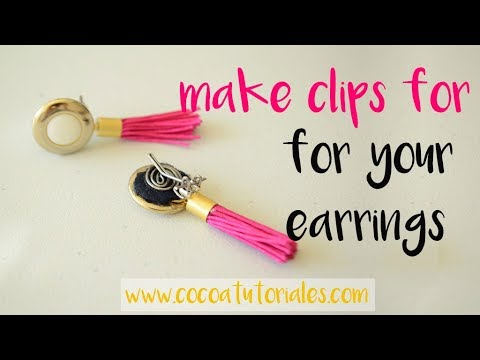 Diy How To Make Clip On Earrings With Wire The You