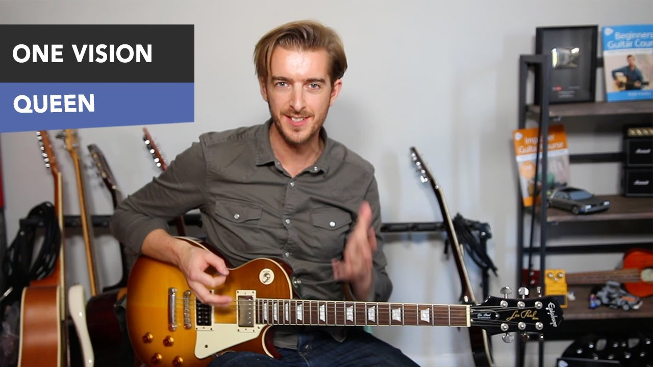 queen one vision easy guitar lesson tutorial all rhythm parts youtube. Black Bedroom Furniture Sets. Home Design Ideas