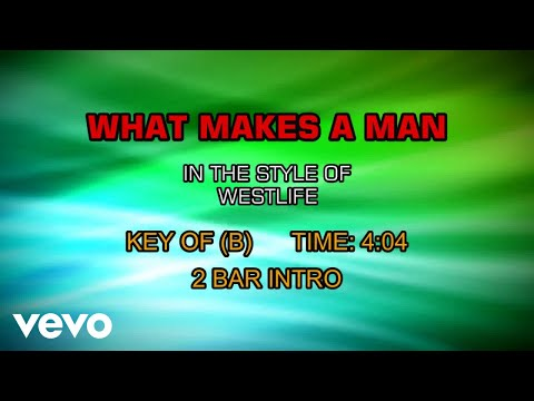 Westlife - What Makes A Man (Karaoke)