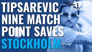 Janko Tipsarevic Saves NINE Match Points Before Losing Final ATP Career Match | Stockholm 2019