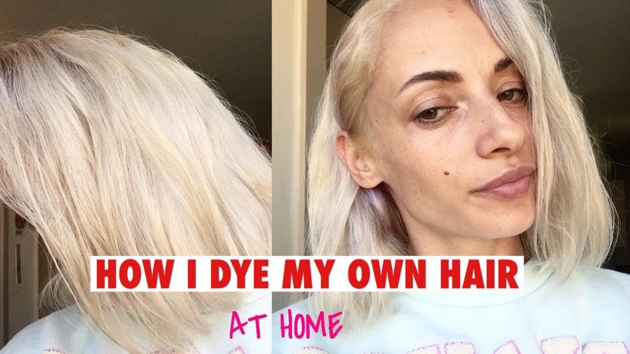 How I color my own hair BLONDE – LAURA BRUJ