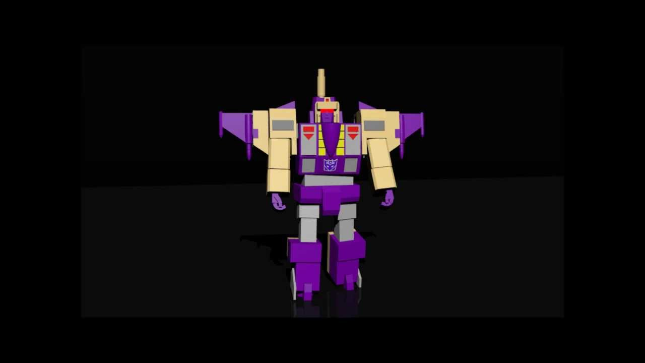 Transformers G1 Blitzwing 3D Animation - Transformers G1 Blitzwing 3D Animation