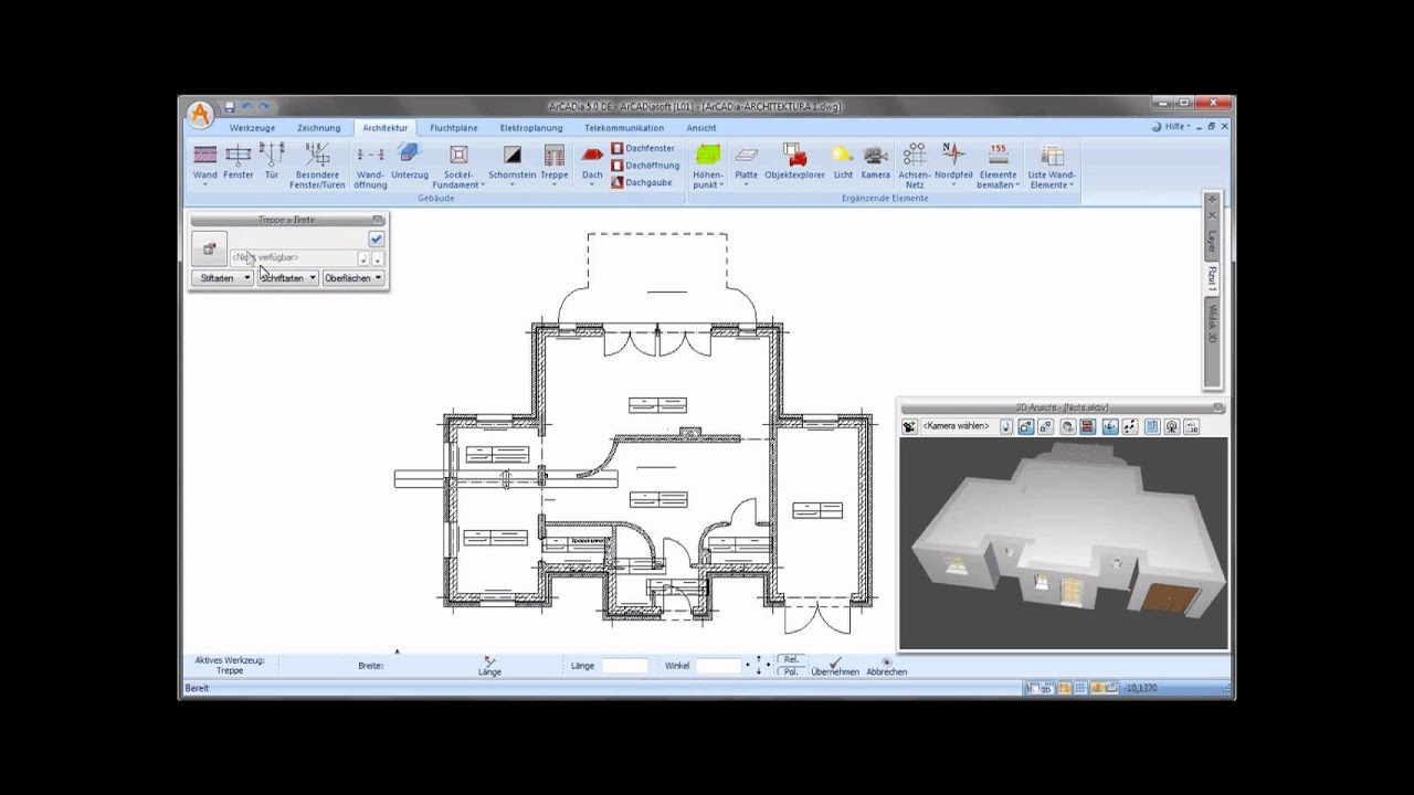 Arcadia Architektur Treppen Einfugen Youtube