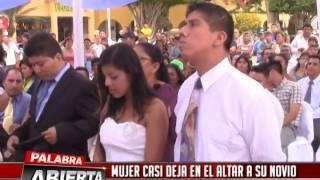 MUJER CASI DEJA EN EL ALTAR A SU NOVIO EN MATRIMONIO MASIVO