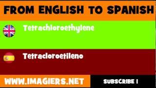 ESPAÑOL = INGLÉS = Tetracloroetileno