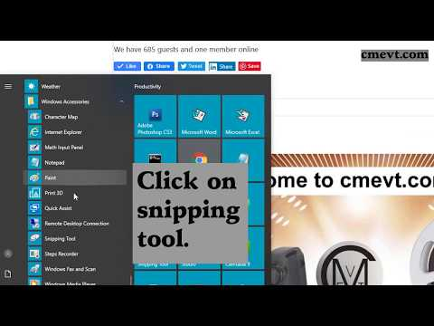 0002 Windows 10 snipping tool for screenshots