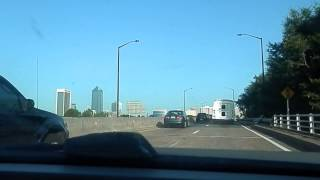 Driving into Downtown Jacksonville,Fl from Arlington